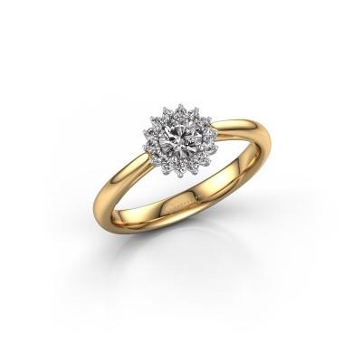 Engagement ring Tilly RND 1 585 gold diamond 0.25 crt