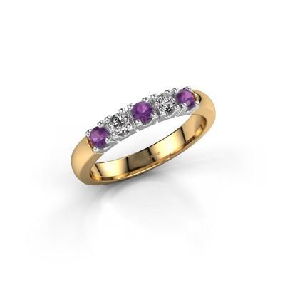 Foto van Ring Rianne 5 585 goud amethist 2.7 mm