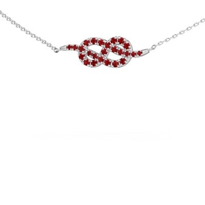 Bar ketting Infinity 1 585 witgoud robijn 1.1 mm