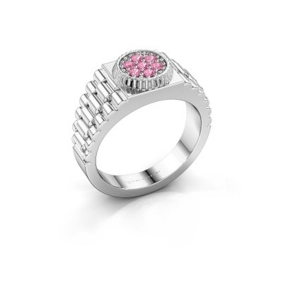 Picture of Men's ring Nout 585 white gold pink sapphire 2 mm