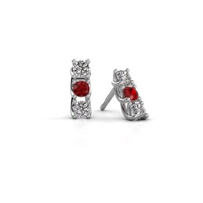 Picture of Earrings Fenna 585 white gold ruby 3 mm