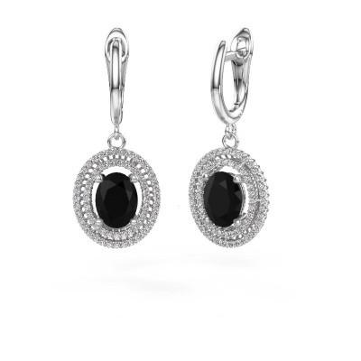 Foto van Oorhangers Karren 950 platina zwarte diamant 3.400 crt