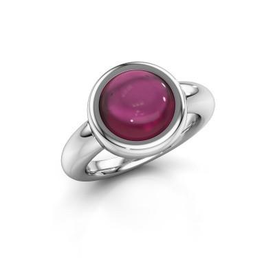 Ring Jenae 925 zilver rhodoliet 10 mm