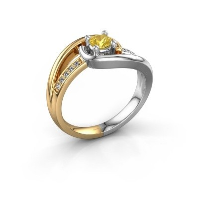 Ring Aylin 585 Gold Gelb Saphir 4 mm