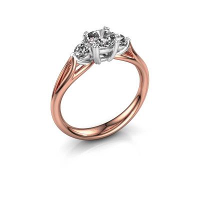 Verlovingsring Amie cus 585 rosé goud lab-grown diamant 0.70 crt