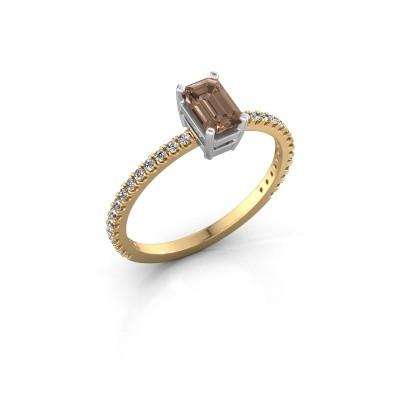 Foto van Verlovingsring Denita 2 585 goud bruine diamant 0.70 crt
