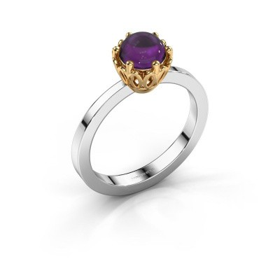 Ring Marly 585 witgoud amethist 6 mm