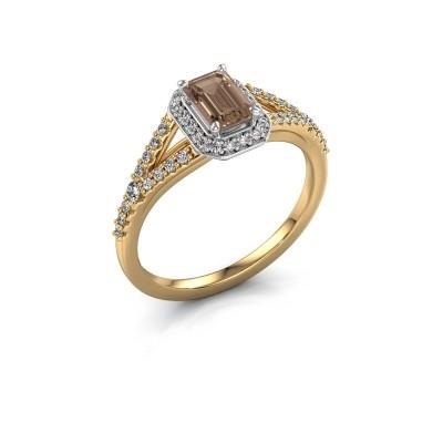 Verlovingsring Pamela EME 585 goud bruine diamant 0.95 crt