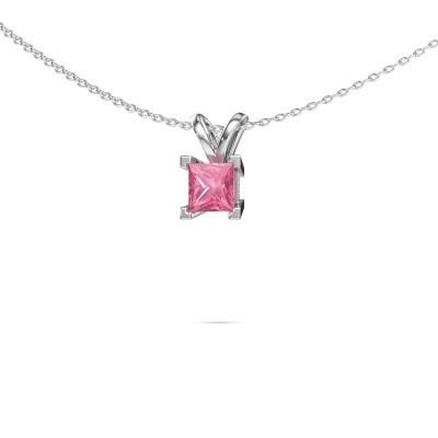 Picture of Pendant Ariane 950 platinum pink sapphire 5 mm
