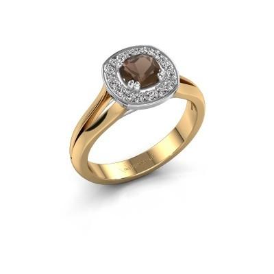 Foto van Ring Carolina 1 585 goud rookkwarts 5 mm