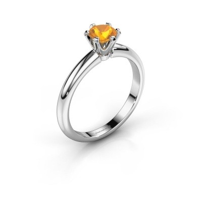 Picture of Engagement ring Tiffy 1 950 platinum citrin 5 mm
