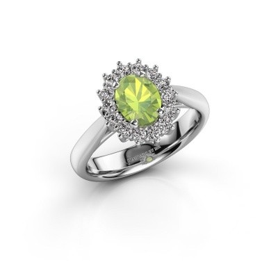 Picture of Engagement ring Margien 1 585 white gold peridot 7x5 mm