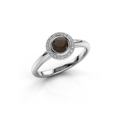 Foto van Promise ring Noud 1 RND 950 platina rookkwarts 4.7 mm