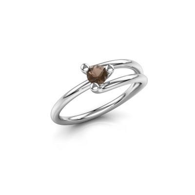Foto van Ring Roosmarijn 925 zilver rookkwarts 3.7 mm