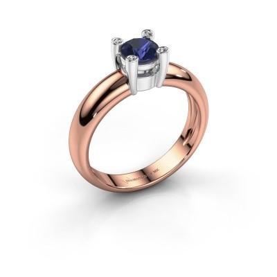 Ring Fleur 585 rosé goud saffier 4.7 mm