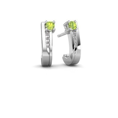 Picture of Earrings Jewell 950 platinum peridot 2.7 mm