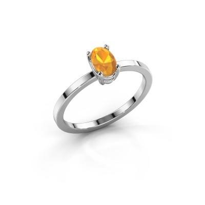 Foto van Ring Lynelle 1 585 witgoud citrien 6x4 mm