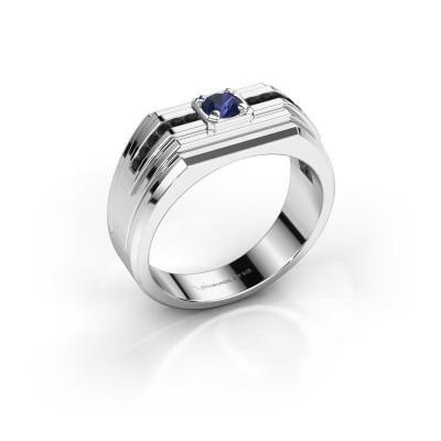 Foto van Heren ring Oliver 925 zilver saffier 4 mm