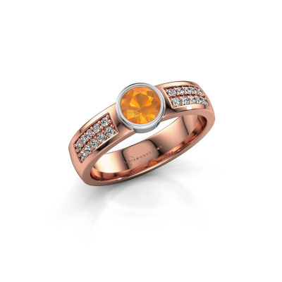 Engagement ring Ise 3 585 rose gold citrin 4.7 mm