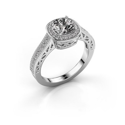 Engagement ring Candi 585 white gold diamond 1.309 crt