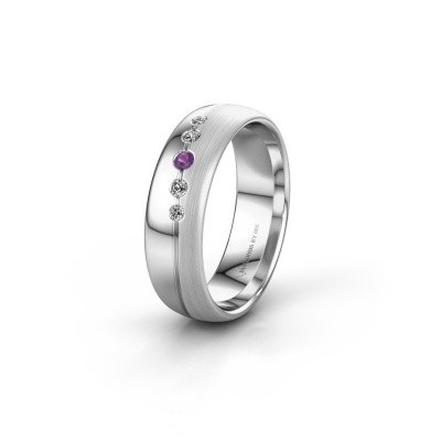 Picture of Wedding ring WH0925L36APM 585 white gold amethyst ±0.24x0.07 in