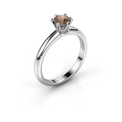 Verlovingsring Tiffy 1 585 witgoud bruine diamant 0.50 crt