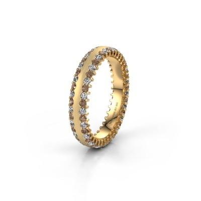 Wedding ring WH2139L24B 375 gold brown diamond ±4x2 mm