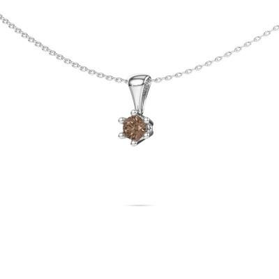 Foto van Ketting Fay 585 witgoud bruine diamant 0.25 crt