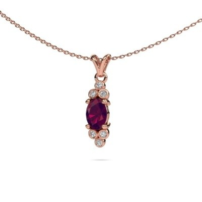 Picture of Pendant Lucy 2 375 rose gold rhodolite 7x5 mm