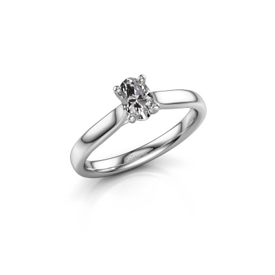 Picture of Engagement ring Mignon ovl 1 585 white gold diamond 0.50 crt