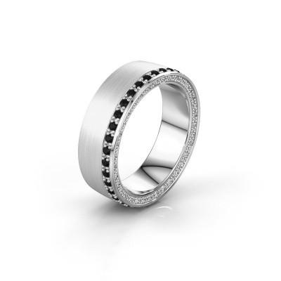 Trouwring WH2224L26C8 925 zilver zwarte diamant 0.612 crt ±6x2.2 mm