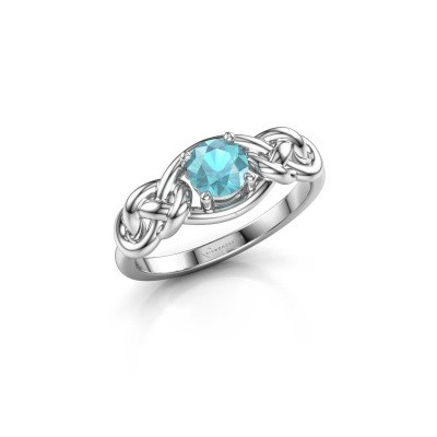Picture of Ring Zoe 925 silver blue topaz 5 mm