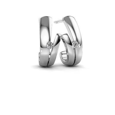 Foto van Oorbellen Shela 925 zilver diamant 0.12 crt