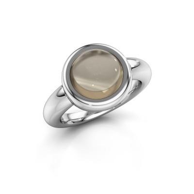 Ring Jenae 950 Platin Rauchquarz 10 mm