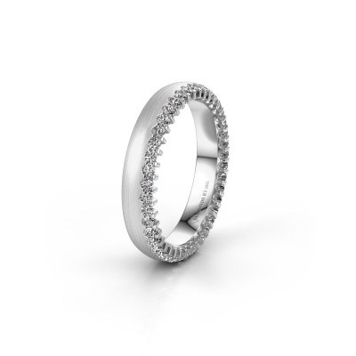 Wedding ring WH2138L24B 585 white gold zirconia ±4x2 mm