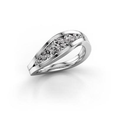 Foto van Ring Sigrid 2 950 platina diamant 0.73 crt