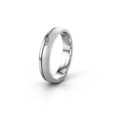 Wedding ring WH0334L24X 925 silver diamond ±4x1.5 mm