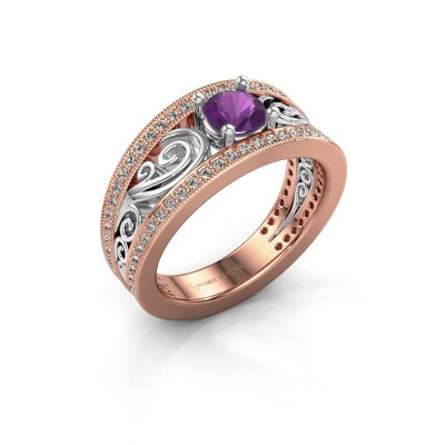 Picture of Ring Julliana 585 rose gold amethyst 5 mm