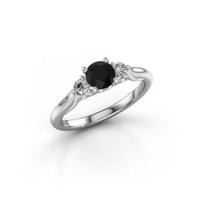 Foto van Verlovingsring Laurian RND 585 witgoud zwarte diamant 0.80 crt