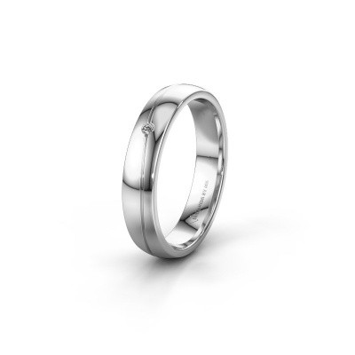Picture of Wedding ring WH0901L24AP 585 white gold zirconia ±4x1.7 mm