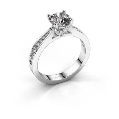 Verlovingsring Evelien 585 witgoud diamant 1.257 crt
