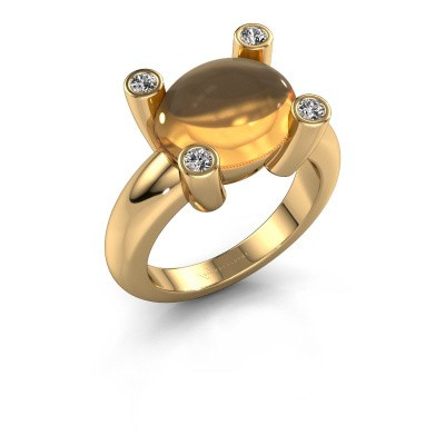 Ring Janice OVL 585 gold citrin 12x10 mm