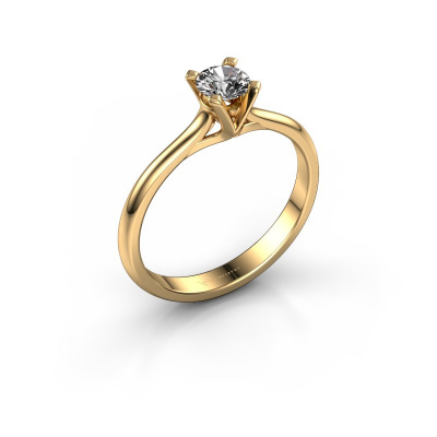 Verlovingsring Isa 1 585 goud diamant 0.30 crt