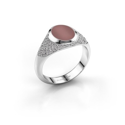 Pinkring Giovani 925 zilver carneool 10x8 mm