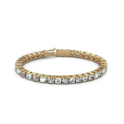 Tennisarmband Ming 375 goud zirkonia 5 mm