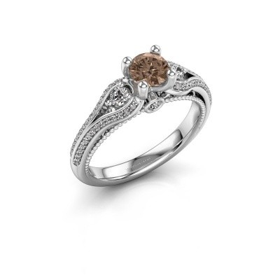 Verlovingsring Nikita 950 platina bruine diamant 0.82 crt