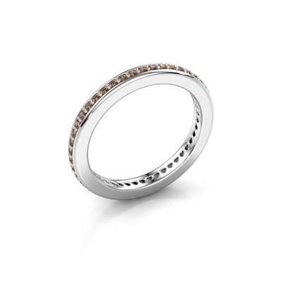 Aanschuifring Elvire 2 925 zilver bruine diamant 0.345 crt