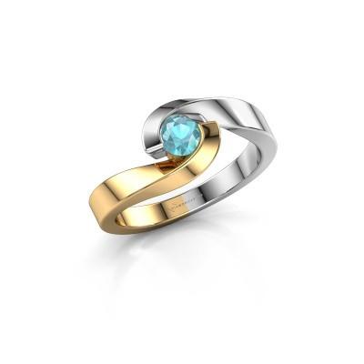 Bild von Ring Sheryl 585 Gold Blau Topas 4 mm