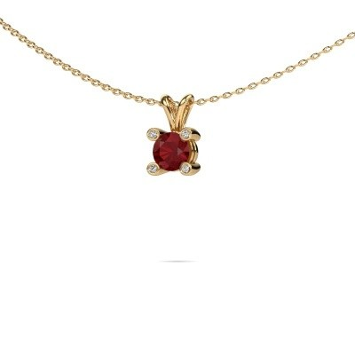 Picture of Pendant Fleur 585 gold ruby 5 mm