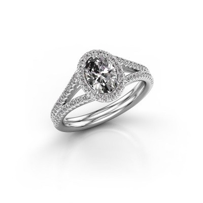 Foto van Verlovingsring Rachele 2 585 witgoud diamant 1.174 crt